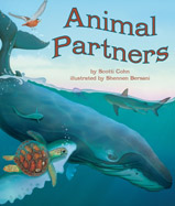 "From the ""crocodile's dentist,"" to the ""mongoose spa,"" some animals need a little help from their friends! Animal Partners takes a whimsical look at the symbiotic relationships of animals."