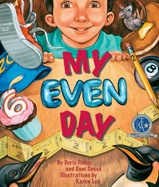 In this delightful, rhythmic sequel to One Odd Day, the young boy awakens to find that it is another strange day—now everything is even, and his mother has two heads!