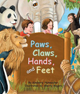 Toe-tapping rhymes take readers on an adventure that leaps from lily pads to icebergs to the tips of trees, all following the beat of paws, claws, hands, and feet.
