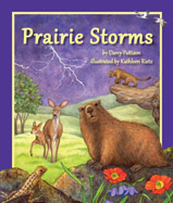 Cozy up for a rainy day read and explore the prairie ecosystem through its ever-changing weather. Each month features a storm typical of that season and a prairie animal who must shelter, hide, escape, or endure those storms. Told in lyrical prose, this story is a celebration of the grasslands that dominate the center of American lands and the anim